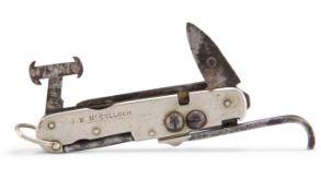 A 19TH CENTURY GAMEKEEPER'S FOLDING POCKET KNIFE