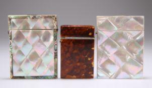 THREE 19TH CENTURY VISITING CARD CASES