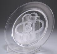 LALIQUE, A GLASS DISH