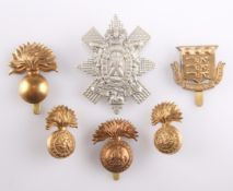 FOUR OTHER RANKS' PATTERN CAP BADGES