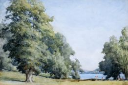 JOSEPH YELVERTON DAWBARN (1856-1943), BATHING, WINDERMERE