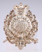 AN OFFICER'S PATTERN SILVER POUCH BELT PLATE OF THE LONDON RIFLE BRIGADE