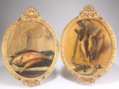 CAROLINA STANGHI (ITALIAN), LATE 19TH CENTURY, RED MULLET AND DEAD GAME