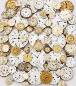 A COLLECTION OF APPROXIMTELY 85 WATCH HEADS & MOVEMENTS, FOR SPARES AND REPAIRS