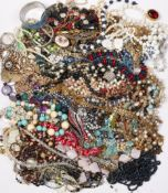 A LARGE QUANTITY OF COSTUME JEWELLERY