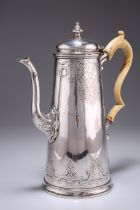 A VICTORIAN ELECTRO-PLATED COFFEE POT,