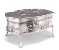 A CHINESE SILVER JEWELLERY CASKET