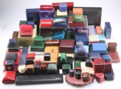 A LARGE QUANTITY OF JEWELLERY BOXES
