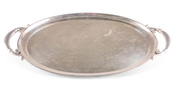 A DANISH STERLING SILVER TRAY