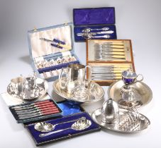 A LARGE COLLECTION OF SILVER-PLATE