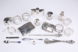 A QUANTITY OF ASSORTED SILVER