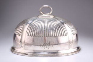 A VICTORIAN SILVER-PLATED MEAT COVER