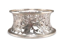 A GEORGE III STYLE SILVER DISH RING