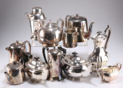 A COLLECTION OF SILVER-PLATE,