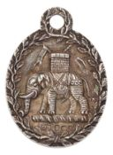A RARE GEORGE III SILVER WORSHIPFUL COMPANY OF CUTLERS' LIVERY BADGE