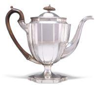 A GEORGE III SCOTTISH SILVER COFFEE POT