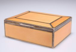 AN EARLY 20TH CENTURY GERMAN SILVER AND ENAMEL BOX