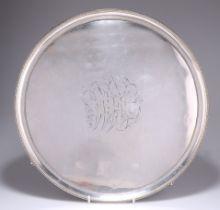 AN OLD SHEFFIELD PLATE SALVER, CIRCA 1790