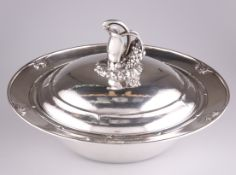 A DANISH STERLING SILVER VEGETABLE DISH AND COVER