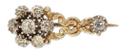 A DIAMOND HALLEY'S COMET BROOCH, CIRCA 1830S