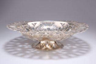 A SILVER-PLATED COMPOTE