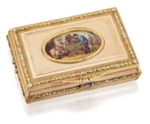 A FINE GOLD AND ENAMEL SNUFF BOX
