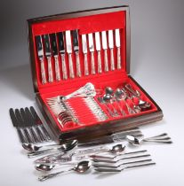 A SILVER-PLATED CANTEEN