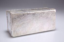 A FINE AMERICAN STERLING SILVER TABLE BOX