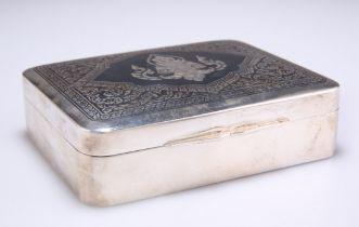 AN EARLY 20TH CENTURY THAI SILVER CIGARETTE BOX