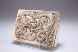 A LARGE CHINESE EXPORT SILVER CIGARETTE BOX