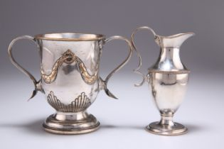 AN OLD SHEFFIELD PLATE TWO-HANDLED CUP, CIRCA 1785