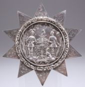A VICTORIAN SILVER 'ANCIENT ORDER OF FORESTERS' SASH STAR