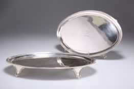 A PAIR OF GEORGE III SILVER SALVERS
