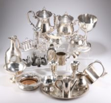 A COLLECTION OF SILVER-PLATE