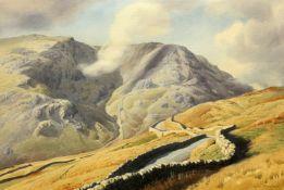 GEOFFREY H POOLEY (1908-2006), A TWISTING LAKELAND ROAD