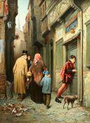 FIGURES IN A NARROW STREET
