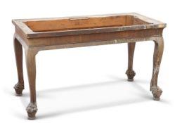 A GEORGE II IRISH MAHOGANY CONSOLE TABLE