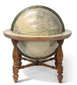 AN AMERICAN 12-INCH GLOBE ON STAND