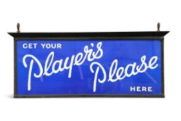 A VINTAGE PLAYER'S ADVERTISING SIGN