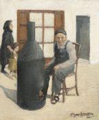 "ROGER HAMPSON (1925-1996), ""COFFEE ROASTER, ANDORRA"""