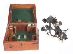 A 19TH CENTURY SEXTANT, BY H. HUGHES & SON, LONDON