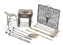 A COLLECTION OF COUNTRY HOUSE METALWORK