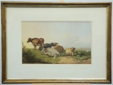 THOMAS SIDNEY COOPER (1803-1902), CATTLE AT REST AND SHEEP AT REST,