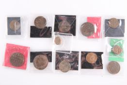 A COLLECTION OF 18TH CENTURY AND LATER FOREGN COPPER COINS