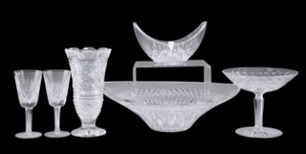 SIX PIECES OF WATERFORD GLASS