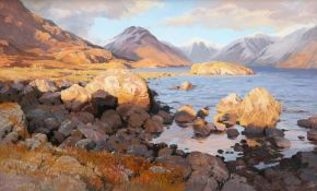 """VIVIENNE POOLEY (BORN 1944), """"ON THE SHORES OF WASTWATER"""""""