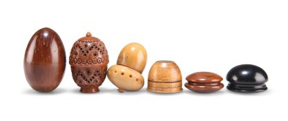 A GROUP OF 19TH CENTURY TREEN