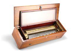 A SWISS INLAID ROSEWOOD MUSIC BOX, NICOLE FRERÈS, CIRCA 1890