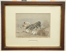 AFTER HERRING, A SET OF SEVEN HUNTING CHROMOLITHOGRAPHS