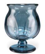A KOSTA BLUE GLASS VASE, CIRCA 1930